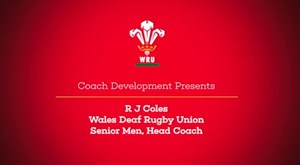 RJ Coles Wales Deaf Head Coach